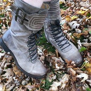 Frye Veronica motocross lace up boots